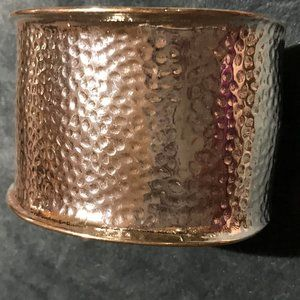 Chico's hammered metal cuff bracelet